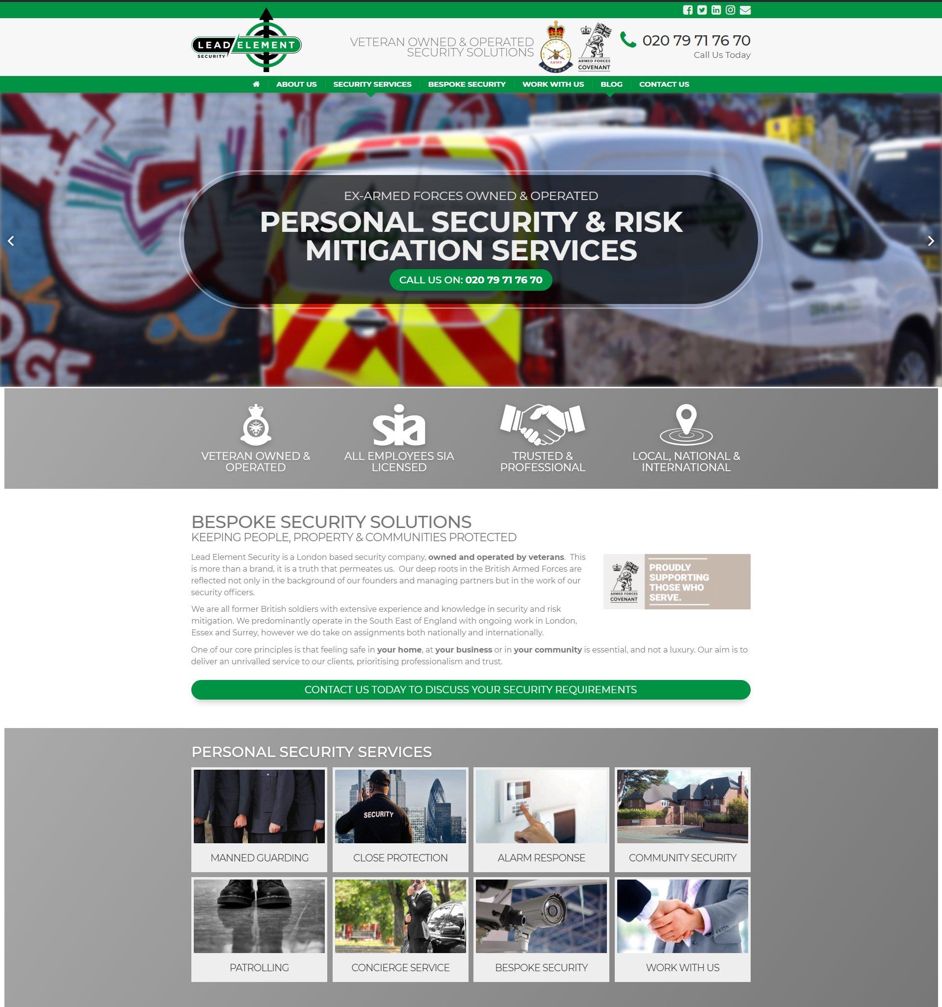 Nearest web design agency in [city]