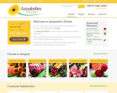 Annabelles Florist ecommerce website