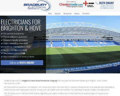 Bradbury Electrical website