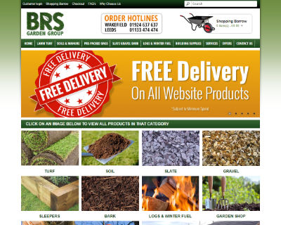 BRS Garden Group ecommerce website