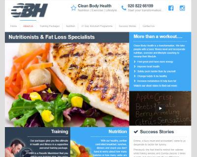 Clean Body Health website