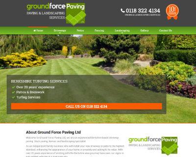 Groundforce Paving websites