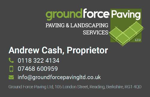 Groundforce Paving Business Card Design