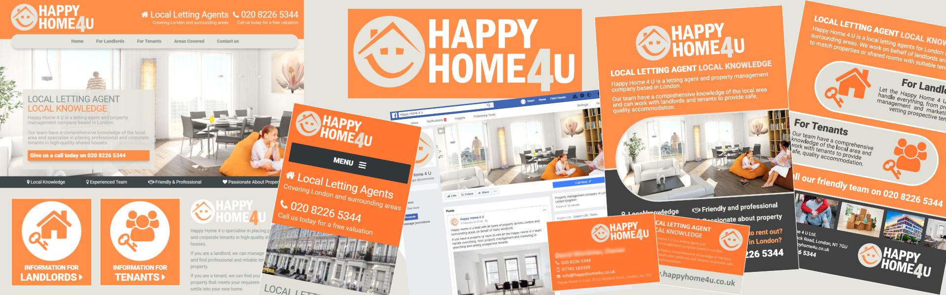 Happy Home 4u Graphic Design Case Study