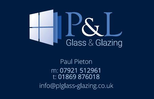 P&L Glass Business Card Design