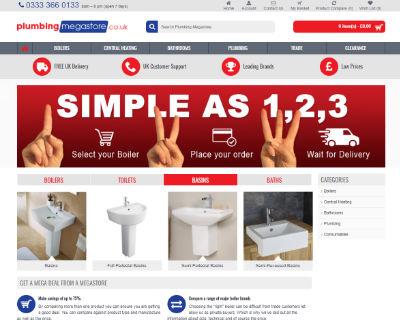 Plumbing Megastore ecommerce website