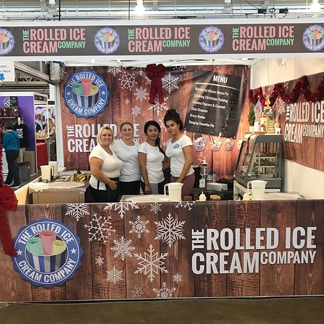 Rolled Ice Cream Exhibition Stand