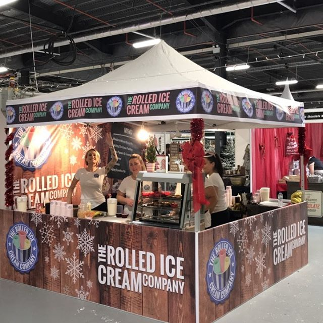 Rolled Ice Cream Exhibition Banners