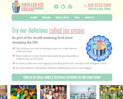The Rolled Ice Cream Company website